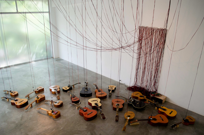 quebrada escondida cuatros, guittars, mandolins, cable and motors OFICINA#1, Caracas, Venezuela, 2014